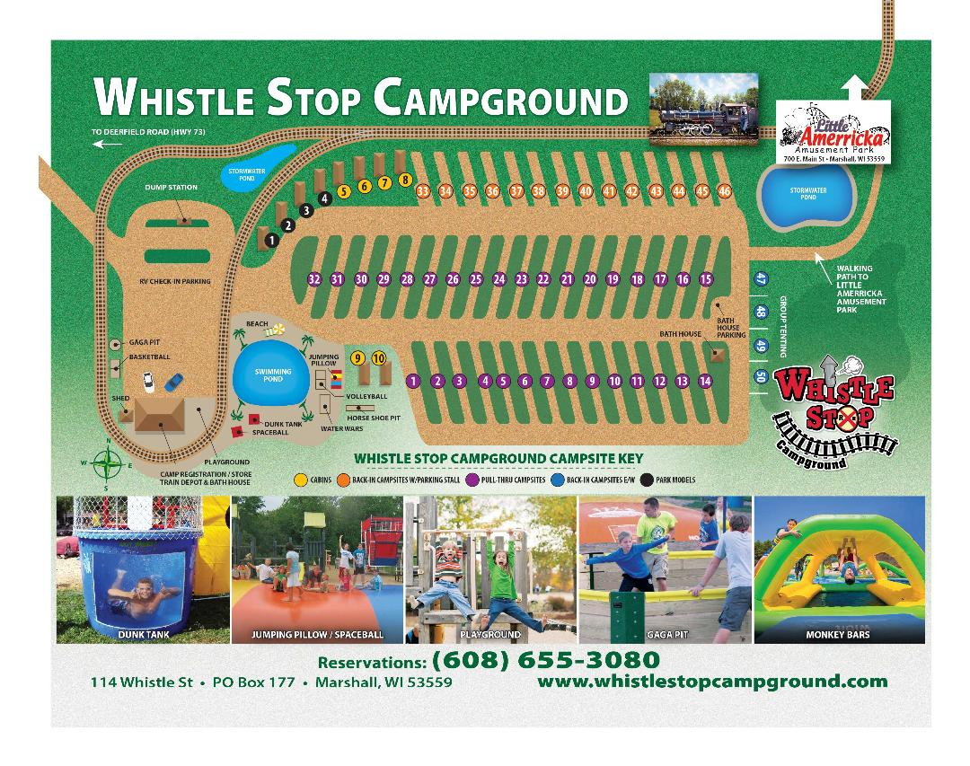 Whistle Stop Campground Map